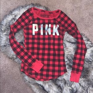 VS PINK Buffalo Plaid Thermal